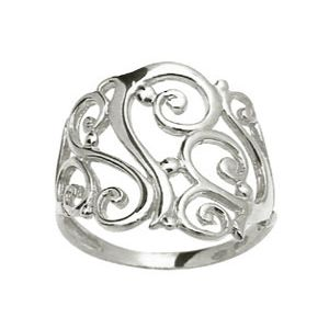 White Gold Ring - Filigree
