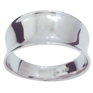 White Gold Ring - Concave