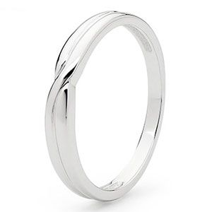 Image of White Gold Ring - Wedding Band (W45336)