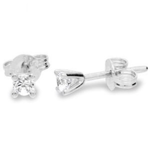 Image of Diamond White Gold Earrings .10ct Studs (W50114/B10)