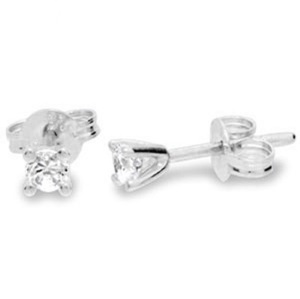 Image of Diamond White Gold Earrings .15ct Round (W50114/B15)