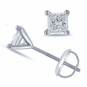 Image of Diamond White Gold Earrings .10ct Stud (W55504/B10)