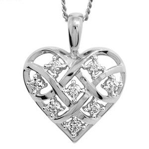 Image of Diamond White Gold Pendant - Heart Dreamweaver (W64747)