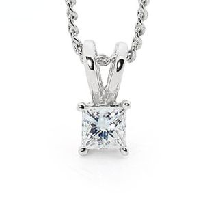 Image of Diamond White Gold Pendant .18ct (W65505/B18)
