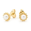 Pearl Gold Earrings - Studs