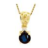 Black Sapphire and Diamond Gold Pendant