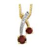 Garnet and Diamond Gold Pendant