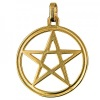 Gold Charm - Pentagram in Circle
